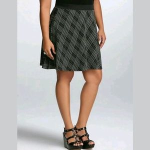 Torrid Plaid Double Knit Mini Skater Twirl Skirt